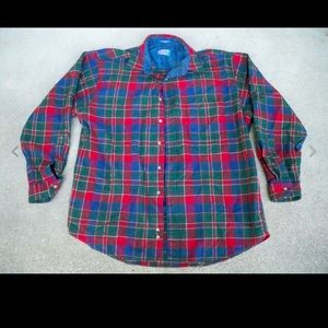 Pendleton Board Shirt XL Wool Tartan Plaid Men's